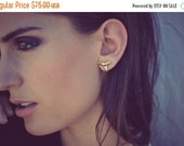 VALENTINES SALE Miniture Shark Tooth Electroformed 24K Gold or Silver Earring Studs
