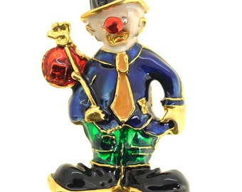 Hobo Birthday Clown Brooch 1005381