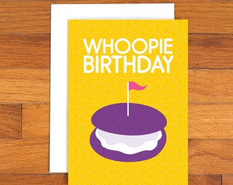Whoopie Pie - Birthday Card - Cookie Card - Funny Card