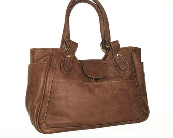 Caramel Leather Bag Leather Tote  Leather Handbag, Julia size L