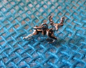 Flying Reindeer Sterling Charm