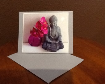 Buddha Orchid     4 Cards with Envelopes  designed by Janelle Lombard