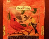 VALUE PRICED 2X-Large Royal Wing Recycled  Upcycled  Repurposed  Market Grocery Tote or Gift Bag for Bird Lovers
