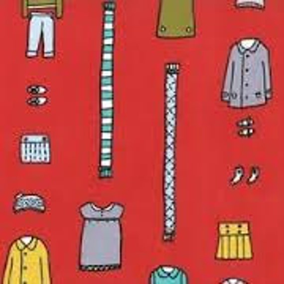 Little Apples clothing red Aneela Hoey moda fabric FQ