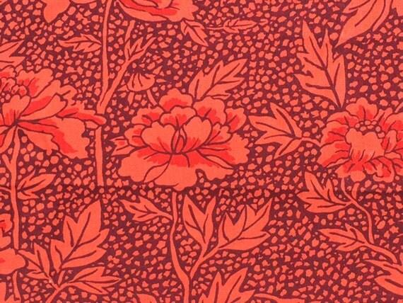 Holiday Sale : Kaffe Fassett Peony maroon GP 17 Westminster Rowan Fabrics FQ or more  RARE