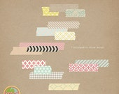 Washi Tapes Strips No 2 - Digital Scrapbooking Kit for Spring, Girl, Wedding, Baby INSTANT DOWNLOAD