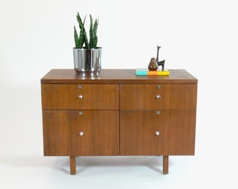 Mid Century Modern Jens Risom Attributed Credenza // Sideboard // Dresser // File Cabinet