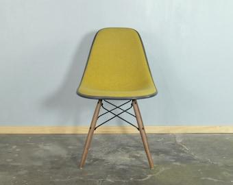 Eames for Herman Miller Alexander Girard Hopsack Dowel Base Side Chair-DSW