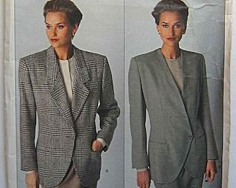 Calvin Klein Vintage 80's Misses' Jackets, Vogue 2393 Sewing Pattern UNCUT Sizes 12-14-16