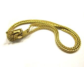 "12K GF Vintage Bracelet Gold Triple Strand 7"""