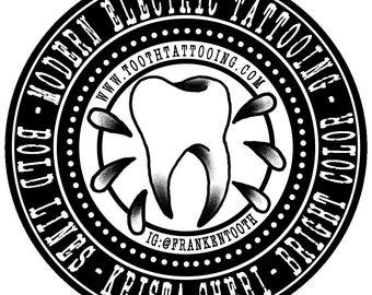 Tooth Tattoo Sticker