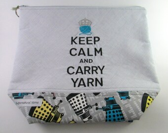 Keep Calm & Carry Yarn - Doctor Who - Dalek Zippered Project Bag