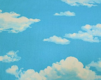 """Sky and Cloud Japanese Fabric  50cm or 19"""" by 110cm or 42"""" wideth"""