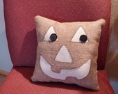 Small Halloween decorative burlap pillow