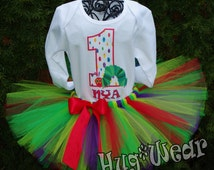 Very Hungry Little Caterpillar Birthday Shirt + Tutu Outfit (any age)