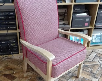 re-upholstered vintage arm chair
