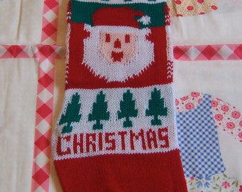 merry christmas knit stocking