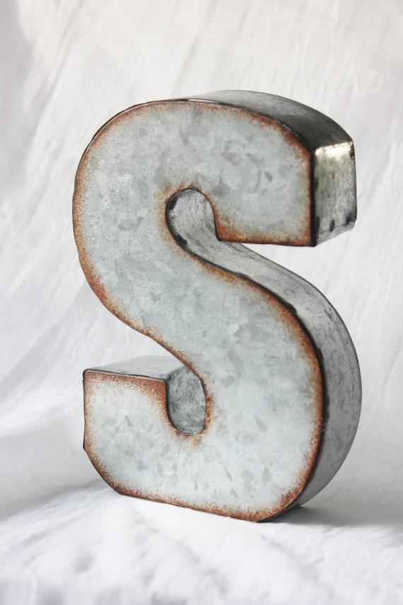 Large Initial Letters Large Metal Letter Zinc Steel Initial Home Room Decor Diy