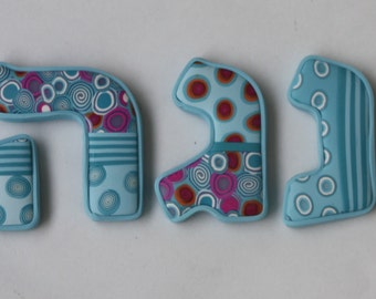 Hebrew letters for nursery room, made to order