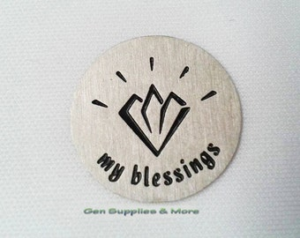 My Blessings Floating Locket Plate, blessings plate, floating locket plate