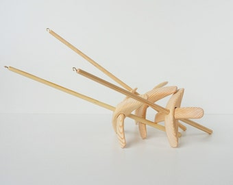Set of 3 spindles Little, Medium and Large size Eco friendly, Turkish spindle set, Turkish spindle, Wooden spindle