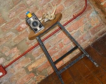 metal industrial stool vintage stool