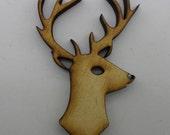 Wood Brooch - Reindeer - BRO045