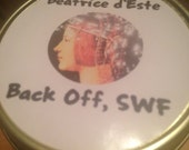 Beatrice d'Este Soy Wood Wick Candle: Back Off, SWF Royal Rebellion Candles