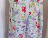 "Bill Blass // White Lavender Floral Soft Silk Scarf // 11"" x 58"" Long // Best of the Best"