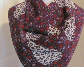 """Givenchy  // Burgundy Purple Floral Silk Scarf  // 27"""" Inch 64cm Square // Best of the Best"""