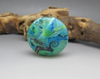Sea & Sky- Lampwork Focal Bead
