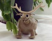Reindeer Christmas decoration, reindeer sculpture, hand made, humorous gift, original design sculpture.