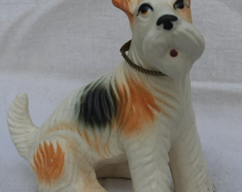 Wire Hair Fox Terrier Figurine Matte Finish Airedale Jack Russell