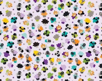 Purple Cupcakes Fabric Halloween Magic Bella Blvd Riley Blake Designs