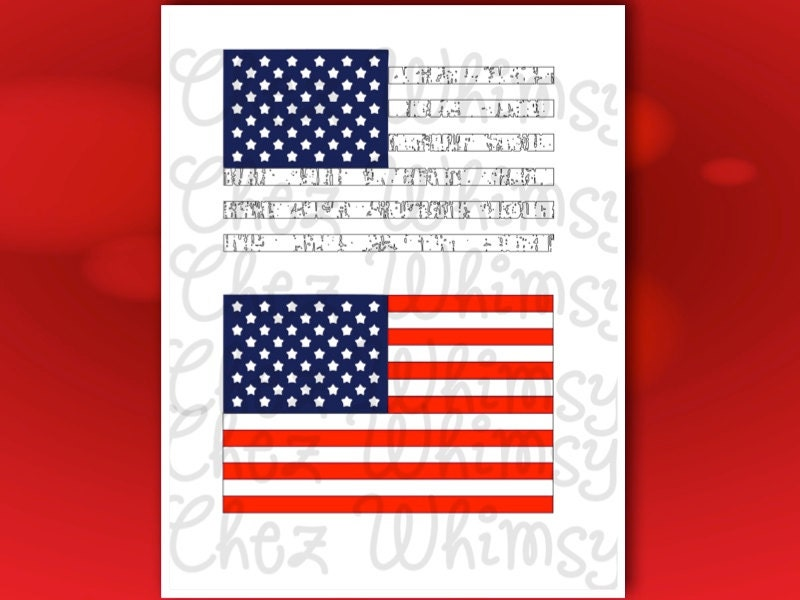 Us Flag Svg Distressed Us Flags Cutting Files American Flag