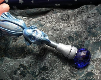 Magician's Wand 'Gwydion' Enchanted and Magical Witch Wizard Boxed OOAK Sculpt by Sculpture Artist Ann Galvin