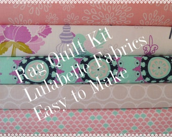 Lulabelle Rag Quilt Kit,Easy to Make, Personalized, Bin D