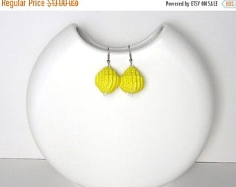 25% Off Lemon Yellow: Statement Earrings  - Lemon Yellow Balls