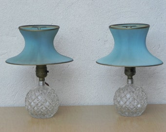 aqua blue lamp shade etsy. Black Bedroom Furniture Sets. Home Design Ideas