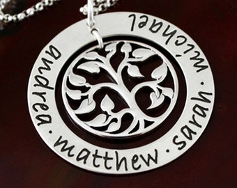 Tree of Life Necklace - Extra Large Sterling Silver Mommy Necklace