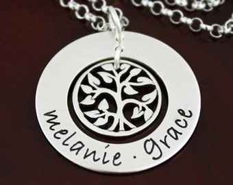 Tree of Life Necklace - Large Sterling Silver Mommy Necklace