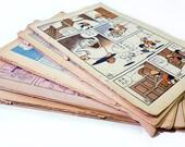 Newsprint Cartoons, Japanese Manga, 1960s