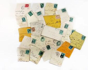 Antique Envelope Scraps for Collage