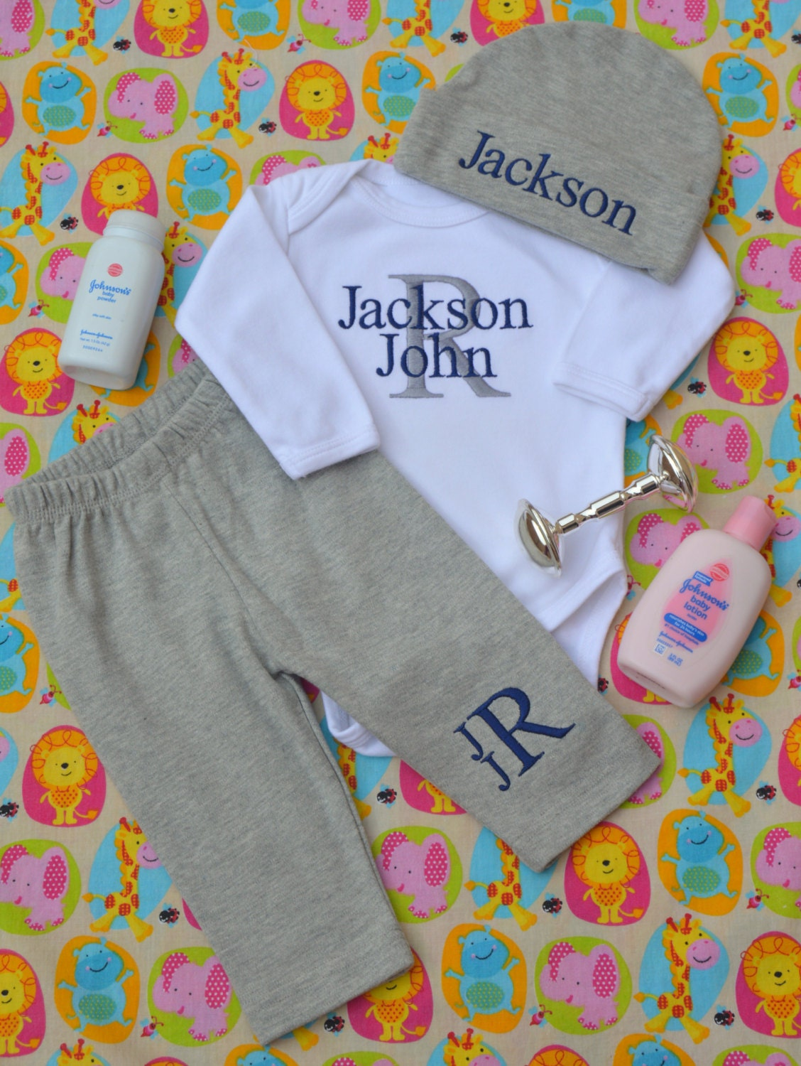 Baby Gift Ideas With Name : Baby boy coming home outfit clothes gift