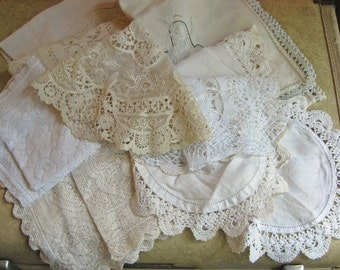 Vintage Lace Table Runner and Doilies