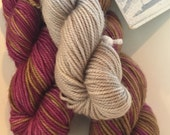 Peanut Butter & Jelly on Toast, Polar Opposites... Canon Hand Dyes Charles SPORT Self Striping Superwash Sock Yarn