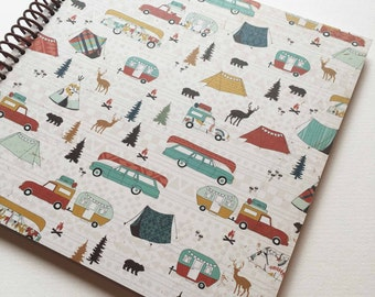 Camping Journal * Camping Notebook * Travel Journal * Travel Notebook * Mountain Vacation * Camping * Hiking * Trailer * Camping Trailer