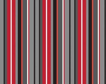 Blackbeard's Pirates Gray Stripe by RBD Designers for Riley Blake, 1/2 yard