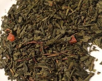 Organic Long Island Strawberry Loose Leaf Green Tea