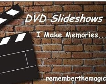 DVD Personalized Slideshow Video & Picture Photo Memory Montage with Music Wedding Birthday Anniversary Occasion